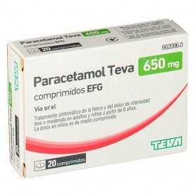 Paracetamol Teva 650 MG 20 Comprimidos