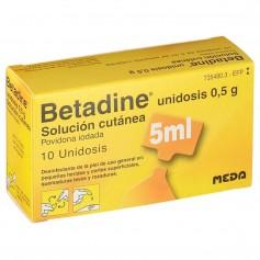 Betadine Solución cutánea 0,5 GR 10 Unidosis