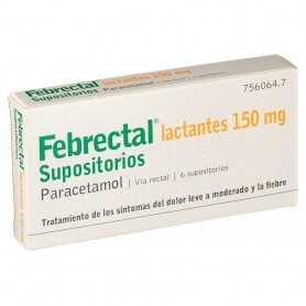 Febrectal Lactantes 150 MG 6 Supositorios
