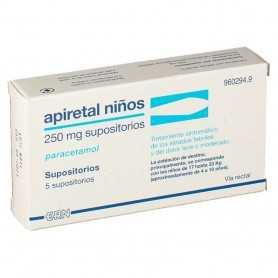 Apiretal Niños 250 MG 5 Supositorios