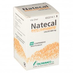 Natecal Calcio 600 MG 60 Comprimidos Masticables