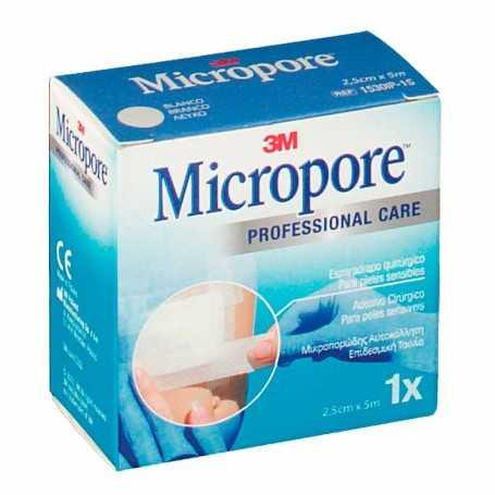 3M Micropore Esparadrapo Quirúrgico 5Mx2,5CM