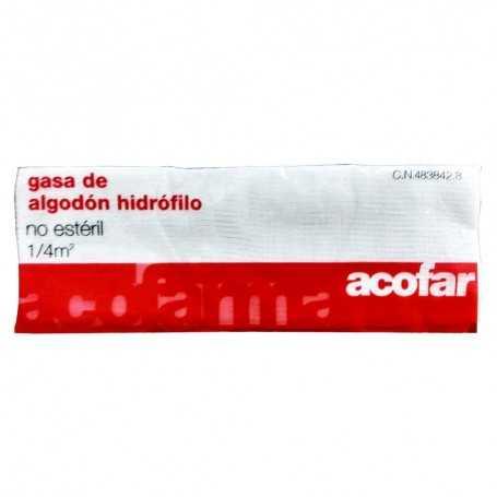 Acofar Gasa De Algodón Hidrófilo No Estéril 1/4 m2