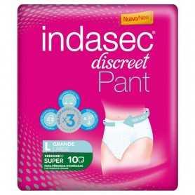 INDASEC DISCREET PANT SUPER GRANDE 10 U