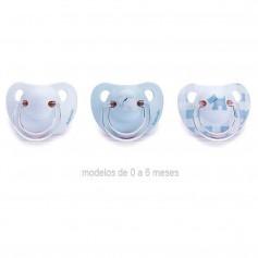 Suavinex Chupete Anatómico Azul Latex 0-6 Meses
