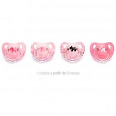 Suavinex Chupete Anatómico Rosa Latex +6 Meses 2 U
