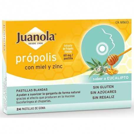 JUANOLA PROPOLIS CON MIEL Y ZINC 24X60 MG