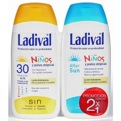 PACK LADIVAL NIÑOS LECHE SPF30 200 ML+AFTERSUN 200 ML