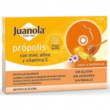 JUANOLA PROPOLIS CON MIEL, ALTEA Y VITAMINA C 24X60 MG