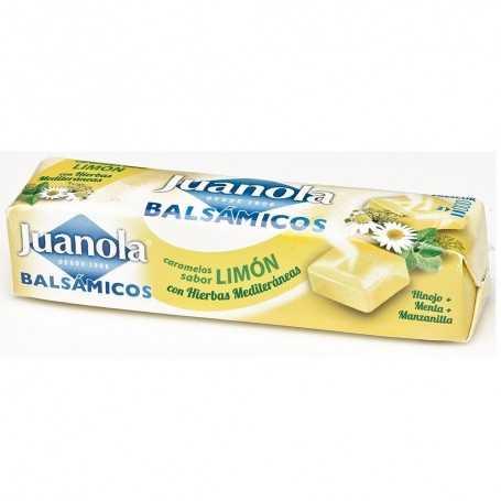 JUANOLA CARAMELOS BALSAMICOS SABOR LIMÓN CON HIERBAS MEDITERRANEAS 32,4 GR