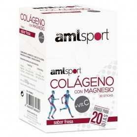 AMLSPORT COLAGENO CON MAGNESIO+VITC 20 STICKS FRESA