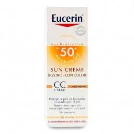 Eucerin Crema Facial Con Color Cc FPS50+ 50 ML