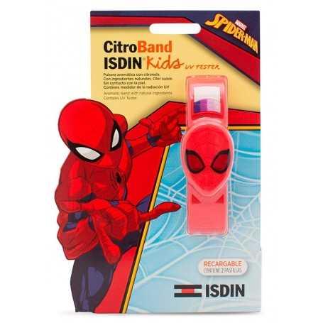 ISDIN KIDS CITROBAND PULSERA SPIDERMAN ANTIMOSQUITOS + 2 RECARGAS