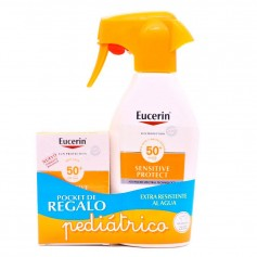 Pack Eucerin Sensitive Protect Spray Kids FPS50+ 300 ML + Regalo