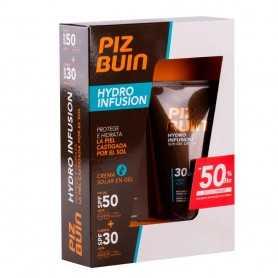 Piz Buin Hydro Infusion Crema en Gel Facial SPF 50+ 50 ML + Cuerpo 30 150 ML