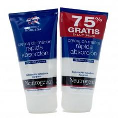 Duplo Neutrogena Crema De Manos Rápida Absorción 2X75 ML