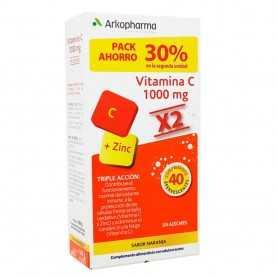 Duplo Arkovital Vitamina C + Zinc 2 X 20 Comprimidos Efervescentes