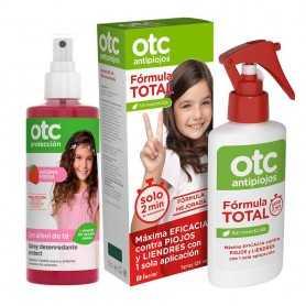 Pack OTC Antipiojos Fórmula Total + Spray Desenredante Fresa