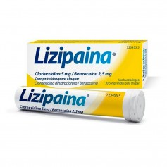 Lizipaina Clorhexidina/Benzocaina 5/2.5 MG 20 Comprimidos para Chupar