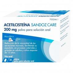 Acetilcisteína Sandoz Care 200 MG 20 Sobres