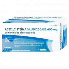 Acetilcisteína Sandoz Care 600 MG 10 Comprimidos Efervescentes