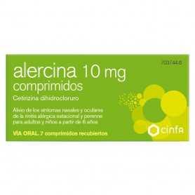 Alercina 10 MG 7 Comprimidos Recubiertos