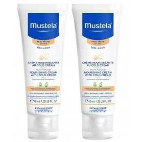 Duplo Mustela Piel Seca Crema Nutritiva Al Cold Cream 2X40 ML