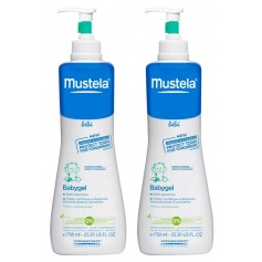 DUPLO MUSTELA PIEL NORMAL BABYGEL 2X750 ML