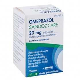 Omeprazol Sandoz Care EFG 20 MG 14 Cápsulas Gastrorresistentes