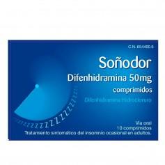Soñodor Difenhidramina 50 MG 10 Comprimidos