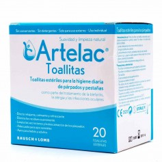 Artelac Toallitas Estériles Limpieza Párpados 20 Toallitas