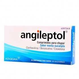 Angileptol 30 Comprimidos Menta Eucalipto