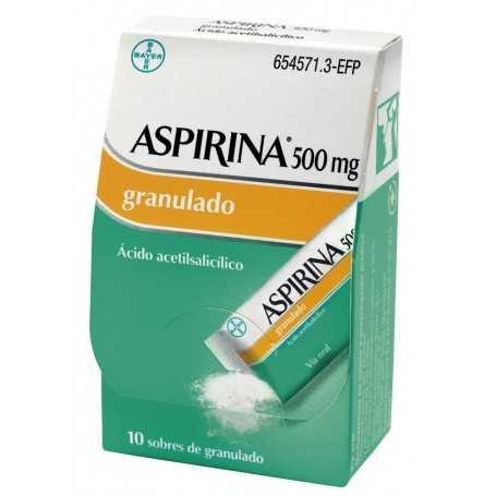 ASPIRINA 500 MG GRANULADO 10 SOBRES