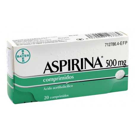 ASPIRINA 500 MG ADULTOS 20 COMPRIMIDOS