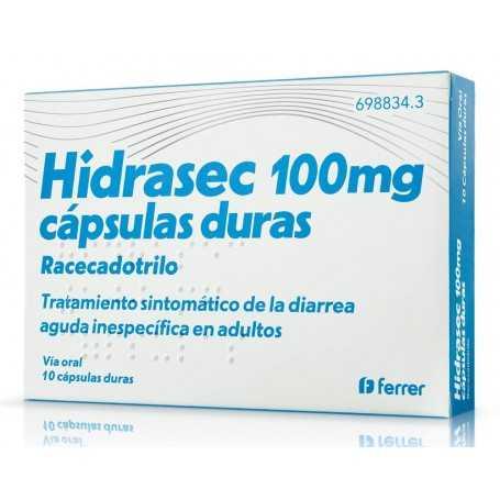 HIDRASEC 100 MG 10 CAPSULAS