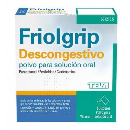 FRIOLGRIP DESCONGESTIVO 10 SOBRES