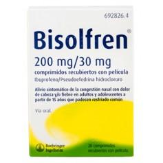 Bisolfren 200 MG/30 MG 20 Comprimidos Recubiertos