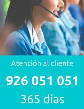 Teléfono de atención al cliente: +34926232121