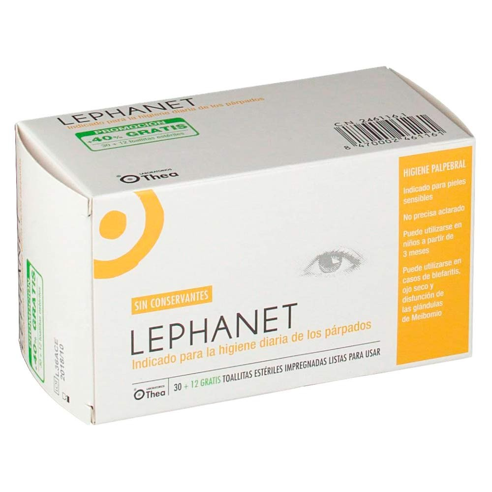 Lephanet 30+12 Toallitas limpiadoras