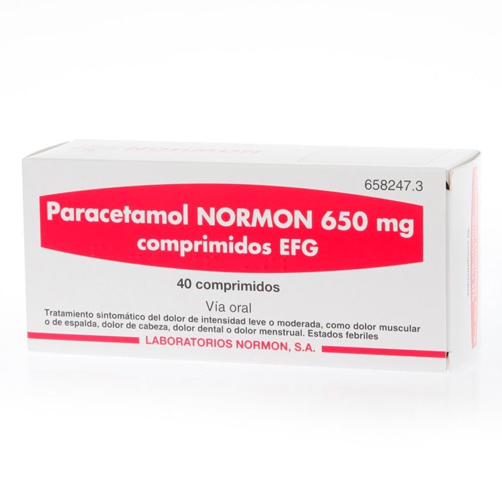 Paracetamol Normon 650 MG 40 comprimidos