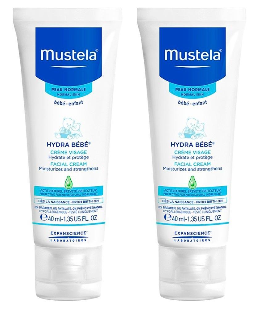 Duplo Mustela Piel Normal Hydra Bebé Crema Facial 40 ML